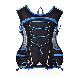 GemCoo 5L Trinkrucksack Laufrucksack Fahrradrucksack Trinkweste Laufen Marathon Rucksack Ultralight Laufrucksack für Radsport, Laufen, Joggen