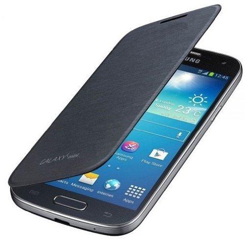 itronik® Flip Cover Schützende Display-Klappe für Samsung Galaxy SIV S4 Mini I9195 schwarz