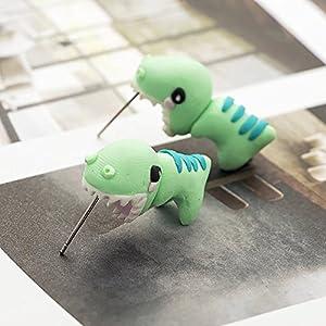 Dinosaurier weiche Keramik Ohrringe T-Rex süße Blaue weiche Keramik Ohrringe