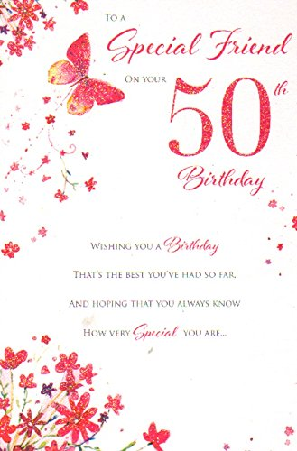 Special Friend on your 50th birthday, Birthday Card