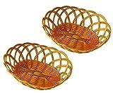 6 x Deko-Körbchen oval aus Kunststoff, bastähnlich, Oster-Körbchen, Brötchenkörbchen