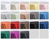 Tischdecke, FARBE wählbar, Streifen Damast Textil, Bügelfrei, Eckig 130x220 cm, Weiß - 3