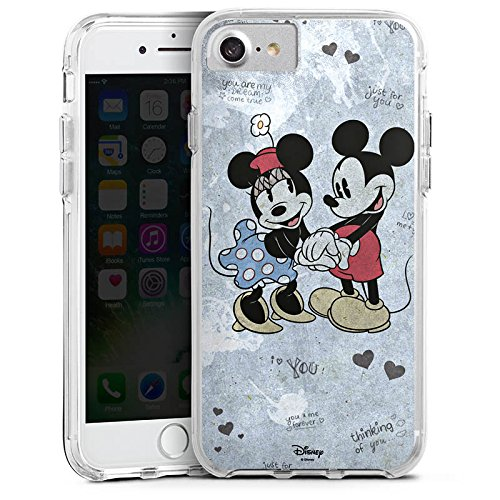 Apple iPhone 6s Bumper Hülle Bumper Case Glitzer Hülle Disney Love Merchandise Geschenke Bumper Case transparent