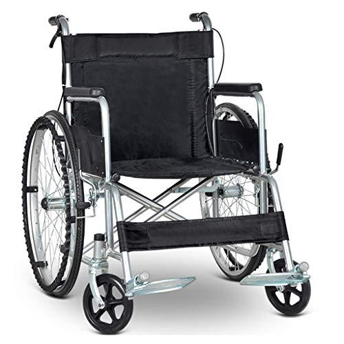 Y-L Transportstuhl, Klappbarer Rollstuhl, Leichter, Alter Mann, Tragbarer Rollstuhl, Behinderte, Kleiner, Alter Kinderwagen, für Behinderte Geeignet, Schwarza, Blackb