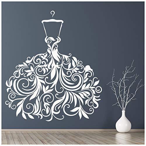 azutura Brautkleid Hochzeitskleid Wandtattoo verfügbar in 5 Größen und 25 Farben Violett