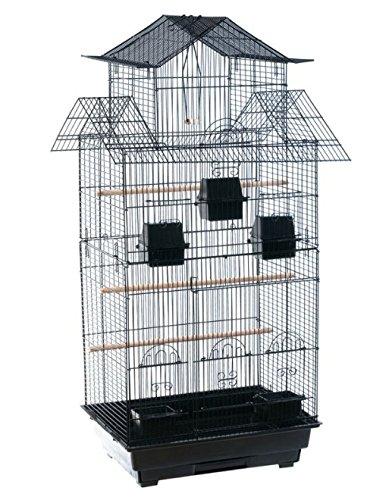 Colossal negro jaula de pájaros–diseño de casa de té–una...