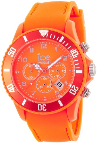 Ice-Watch Men's Quartz Watch with Orange Dial Chronograph Display and Orange Silicone Strap CHM.FO.B.S.12