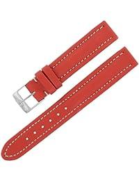 Breitling 130x 15–14mm Bracelet en cuir véritable rouge Mesdames W Boucle.