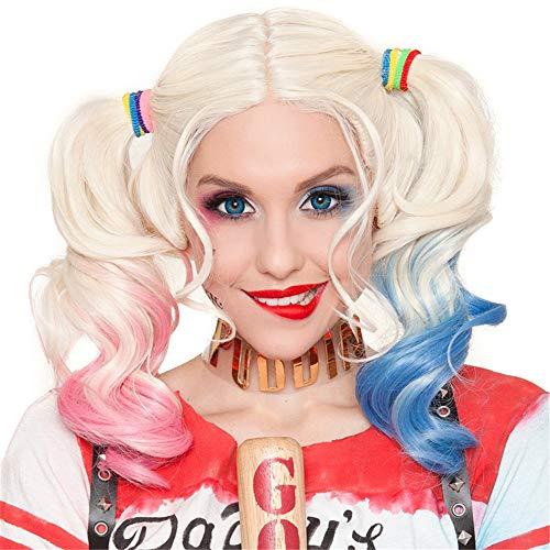 KKSY Perücken Harley Quinn Clown Female PUBG Chemiefasermaterial Natürlich geeignet für Cosplay Halloween Party (38546507)