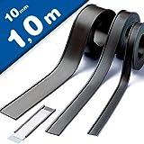 Magnet C-Profil Magnetische Etikettenhalter für Labels/Etiketten Lagerbeschriftung - 10mm breit - Meterware - Ideal zur mobilen Kennzeichnung und Beschriftung