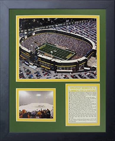 Legends Never Die Green Bay Packers Old Lambeau Field Framed Photo Collage, 11x14-Inch by Legends Never