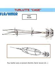 LEURRE FLASHMER TURLUTTE CAGE - INOX - 15 cm