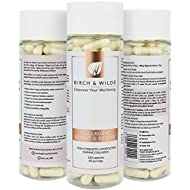 Marine Collagen 1200mg | Premium Hydrolysed High Strength | 120 Capsules-60 Day Supply | Boost & Revive Health Supplement Capsules Birch & Wilde | Skin Hair Nails Bones Joints Support & Wound Repair