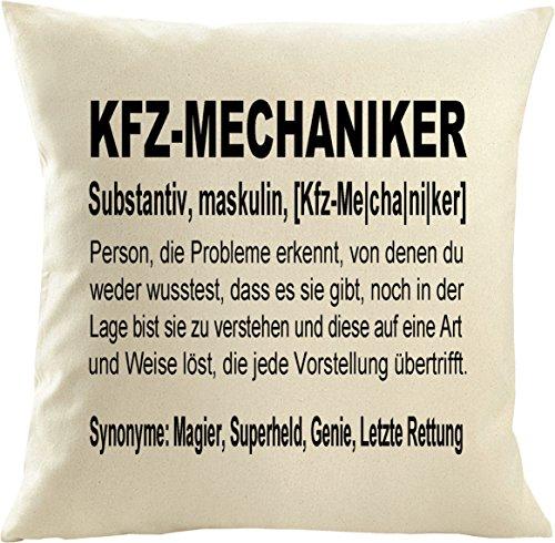 Mister Merchandise Kissenbezug Kissen Hülle Kfz-Mechaniker Definition, Dekokissen Sofakissen, Größe: 40x40 cm