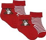 RS. Harmony | Socken und Strümpfe für Babys | Bello | 4 Paar | rot-streifen | 62-68