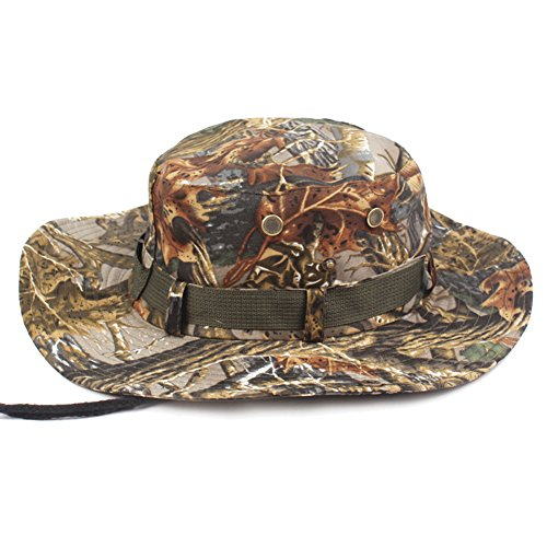 2197f203dfa99 Zedo Jungle Camouflage Sun Hat Summer UV Protection Cap Wide Brim for  Outdoor Camping Fishing Traveling
