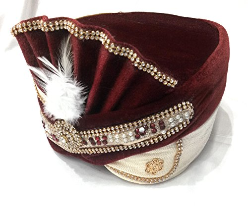 wedding safa/turban/pagdi for men maroon color dulha marriage pagdi