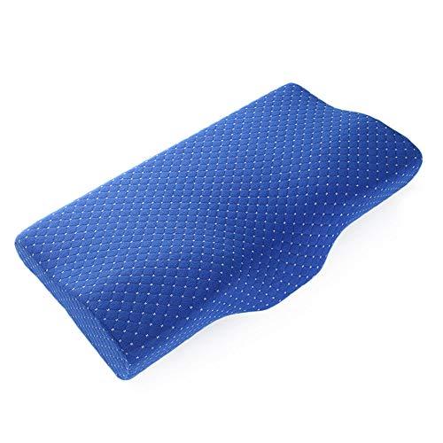 WMA-Home Bettwäsche Einzel Memory Foam Kissen Slow Rebound Squat Kissen Schlafkissen,Blue