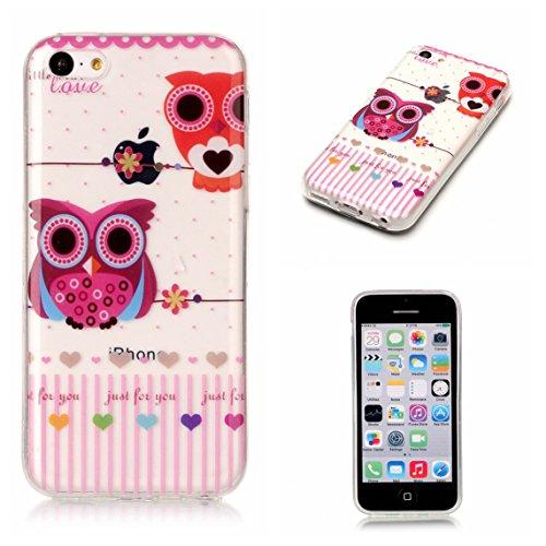 Apple iPhone 5C Hülle, Voguecase Schutzhülle / Case / Cover / Hülle / TPU Gel Skin (Donuts 08) + Gratis Universal Eingabestift Love/Eule