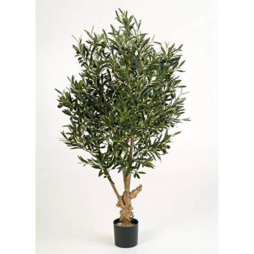 artplants.de Deko Olivenbaum, 2288 Blätter, 120cm - künstlicher Baum - Olivenbaum künstlich