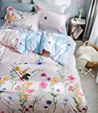MIL Furnishings Queen Size Glace Cotton Comforter Set Duvet Set with Bedsheet