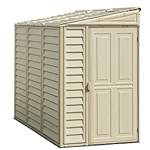 Duramax DuraMate 8′ x 6′ Plastic Garden Shed with Foundation Kit – Ivory – 15 Years Warranty