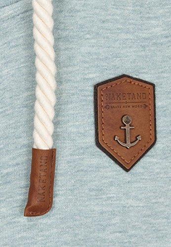 Naketano Male Zipped Jacket Fucking for Freedom Wiederkäuer Grün-Stone Grey Melange