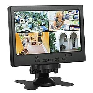 camaras de vigilancia pequeñas y baratas: Monitor LCD de CCTV de 7 Pulgadas Monitor HDMI con Puerto HDMI/VGA/AV Compatible...