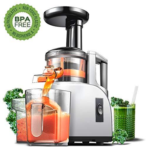 Extractor de zumo AMZCHEF Licuadora Prensado en Frio Licuadoras para verduras y frutas Máquina de Jugo...