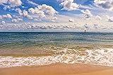 Artland Qualitätsbilder I Wandtattoo Wandsticker Wandaufkleber 30 x 20 cm Landschaften Strand Foto Blau C7YE Strandimpression Hörnum Sylt