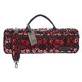 Beaumont BFBB-BL Farbenfrohe und Stilvolle Flötentasche für Querflöte mit H-Fuß Spitze rot