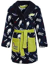 Disney Boys Toy Story Robe Fleece Dressing Gown Kids Buzz Woody Character Bathrobe