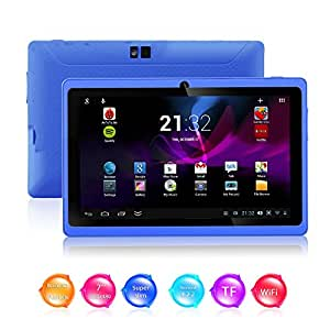 Kool (TM) Q88 II Blue 7 Inch Android 4.2.2 Boxchip A23 Dual Core 1.5GHZ CPU Mali-400 MP2 GPU Tablet PC Dual Camera 8GB HDD 3G/WiFi Supports Youtube, Netflix, BBC iPlayer, Games etc. (2nd Generation)