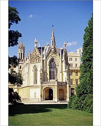 Photographic Print of Neo-Gothic chateau dating from 1856, Lednice, UNESCO World Heritage Site