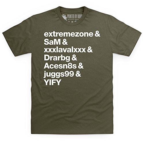 Torrent Uploaders T-Shirt, Herren Olivgrn