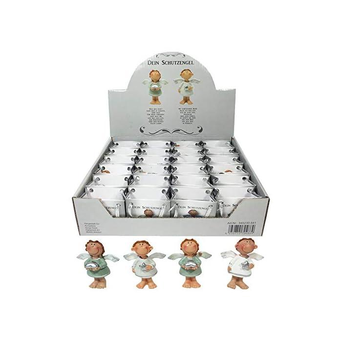 Annastore 24 x Schutzengel in Kleiner Tüte aus Papier - Engel Gastgeschenk Glücksbringer Figur Geschenke für Gäste (Weiß…