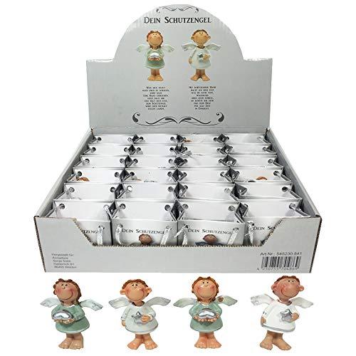 Annastore 24 x Schutzengel in Kleiner Tüte aus Papier - Engel Gastgeschenk Glücksbringer Figur Geschenke für Gäste -