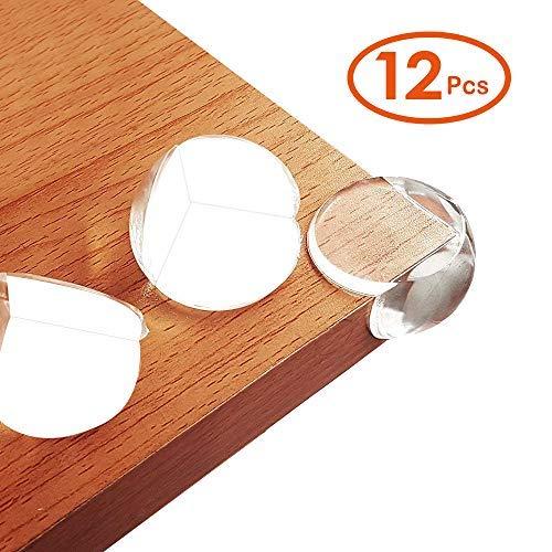 LATTCURE 12PCS Protectores Esquinas Bebes Protección de la Mesa Bebé Protección de Angulo de Mesa Muebles Kit de Seguridad Adhesivo Resistente