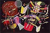 Legendarte P-283 Quadro di  Vassily Kandinsky - Composizione X, Stampa digitale su tela, Multicolore, cm. 60 x 90