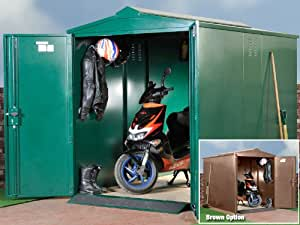 syst me de rangement de scooter garage abri de rangement s curis e pour les cyclomoteurs. Black Bedroom Furniture Sets. Home Design Ideas