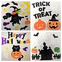 Atlona Halloween Window Stickers, 4 Sheets, Halloween Gel Clings