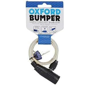 Oxford 01 Bumper Cable Lock - Smoke, 60 x 6 mm