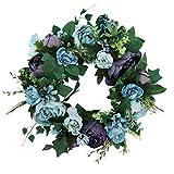 Baoblaze Kunstblumen Karnz Pfingstrose Kranz Blütenkranz Dekokranz für Tür Tisch Stuhl Wand usw. - 5