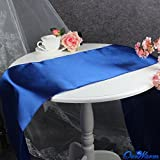 philna12oscuro azul mesa mantel de satén boda fiesta decoración de mesa