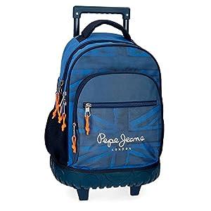51HnrKkH3IL. SS300  - Pepe Jeans Fabio 6092961 Mochila Escolar, 43 cm, 28.9 litros, Azul