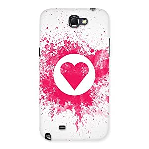 Delighted Splash Heart Back Case Cover for Galaxy Note 2