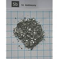 10Gramm Antimon halbmetalle 0,1–10mm 99,999%–Ultra Pure Element 51Probe–Kostenloser Versand