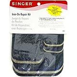 Singer Patchs Polyester thermocollant Kit de réparation 1-assorted couleurs