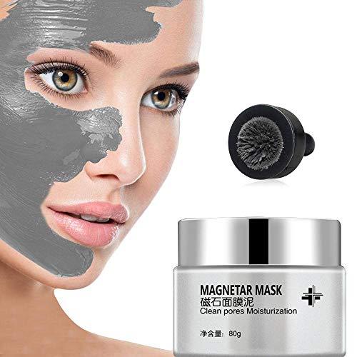Pawaca Magnetische Gesichtsmaske, Mineral Reiche Magnetisch Gesichts Maske, Schwarze Mitesser Maske, Poren Reinigung Peel Off Hautverunreinigungen Entfernt Haut Verunreinigungen 80g