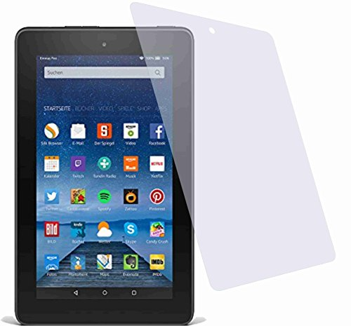 Kinder Zoll 7 Tablet (2x Crystal clear klar Schutzfolie für Amazon Fire Tablet 17,7 cm (7 Zoll) 5. Generation Modell 2015 Premium Displayschutzfolie Bildschirmschutzfolie Schutzhülle Displayschutz Displayfolie Folie)